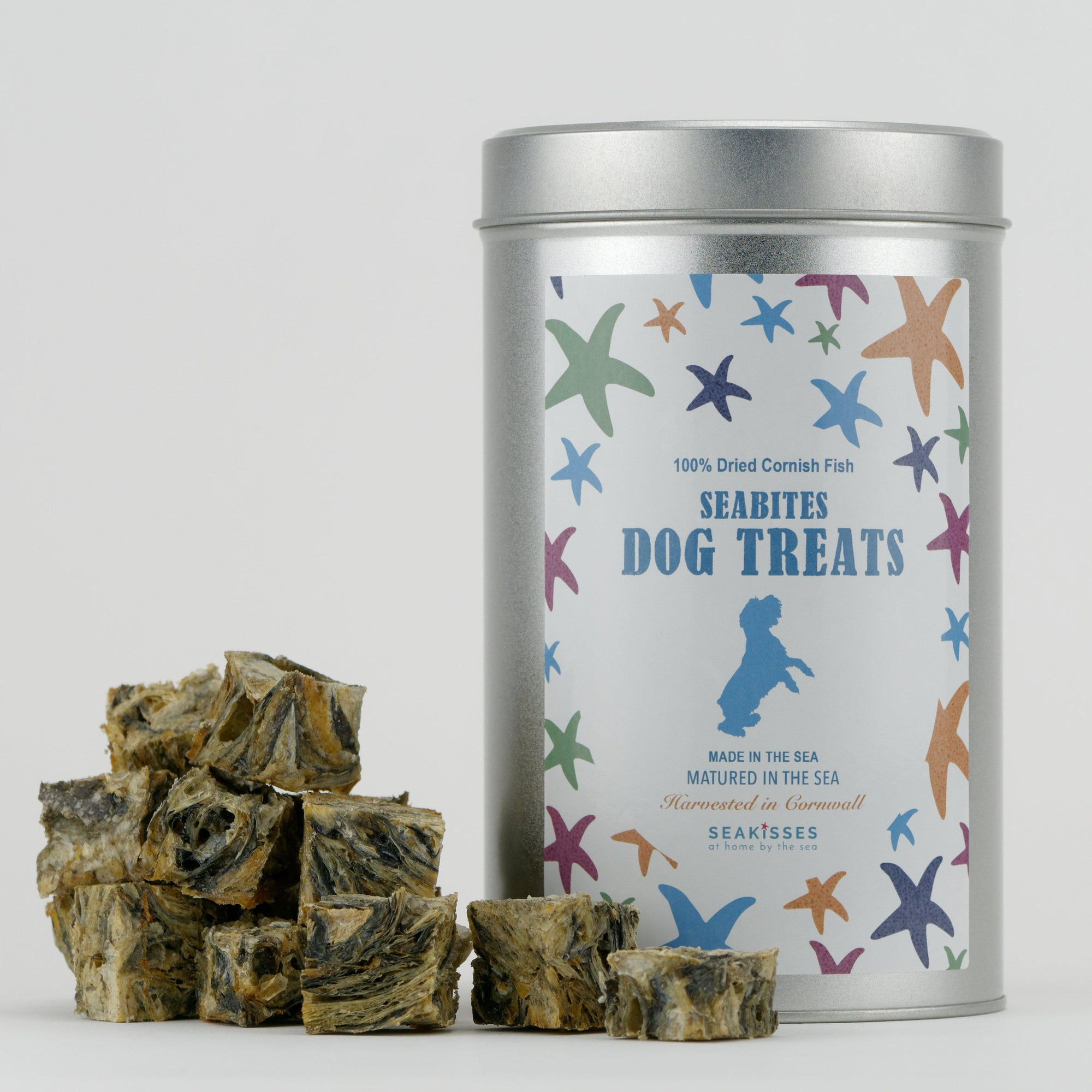SeaBites Gift Tin - 100% Cornish Fish Dog Treat-SeaKisses