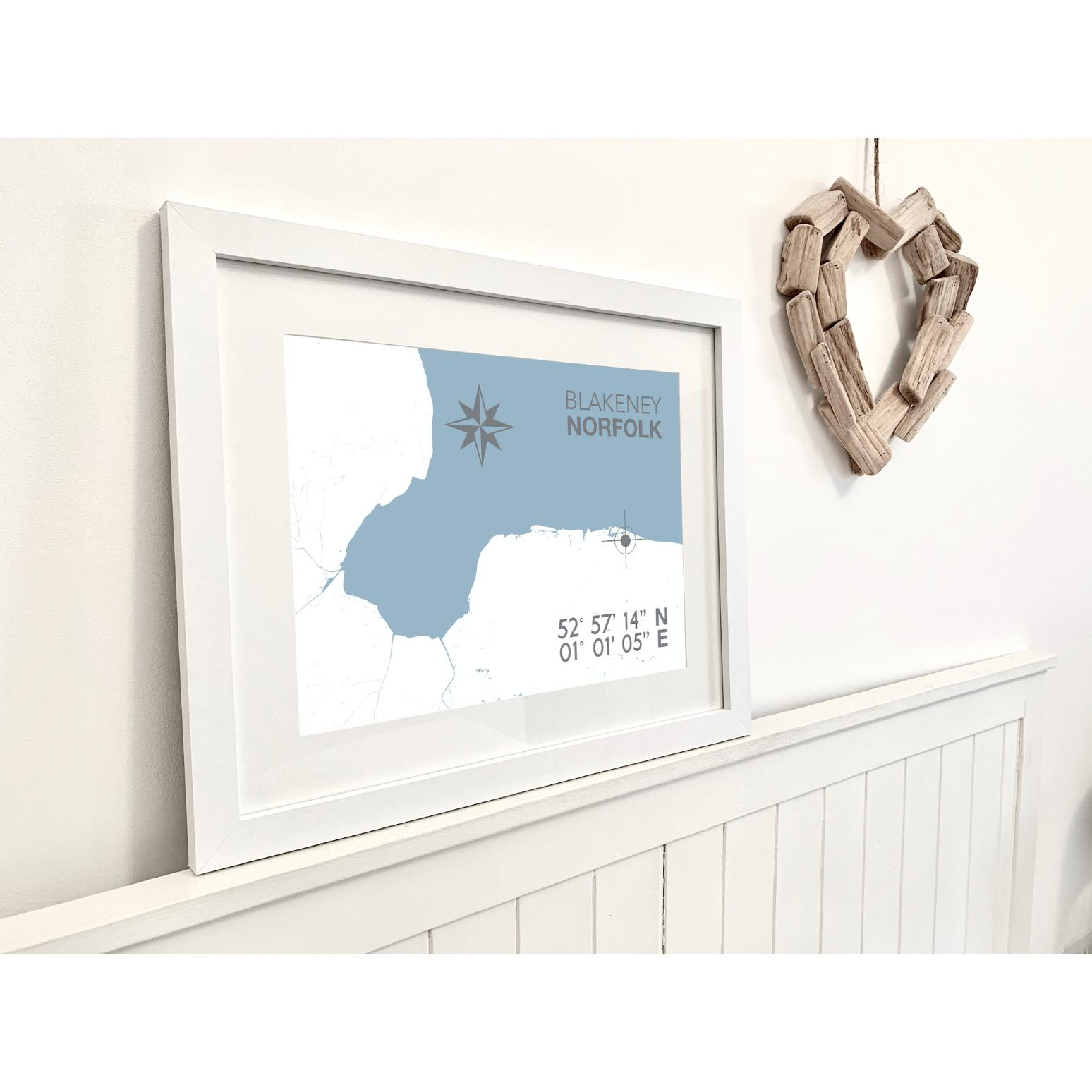 Blakeney Map Travel Print- Coastal Wall Art /Poster-SeaKisses