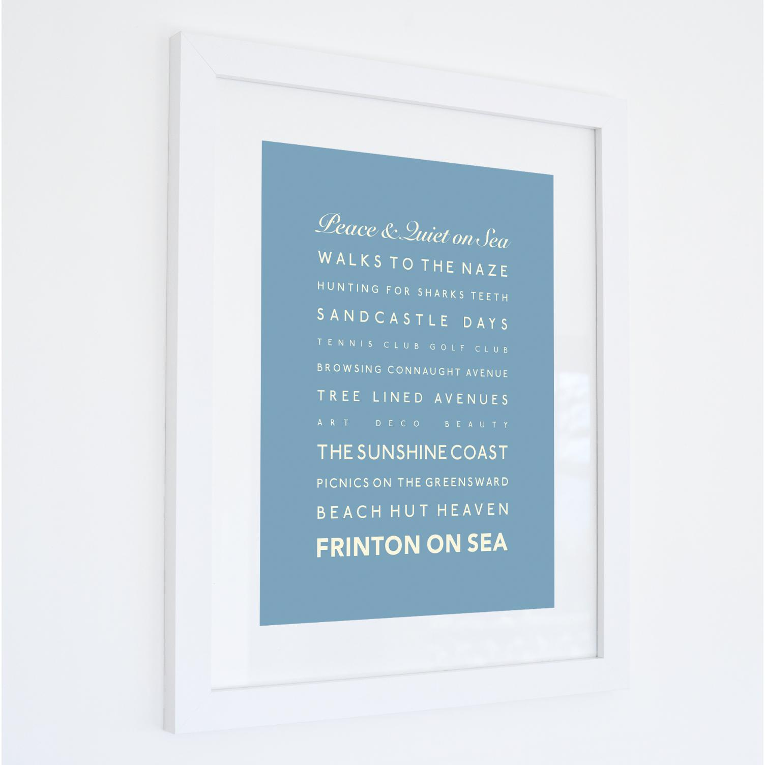 Frinton-on-Sea Typographic Travel Print- Coastal Wall Art /Poster-SeaKisses