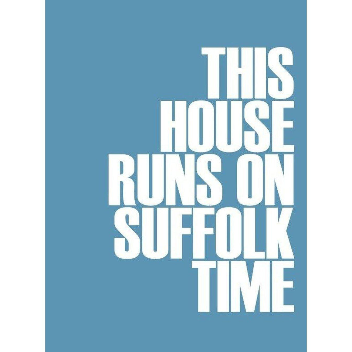 Suffolk Time Typographic Travel and Seaside Print by SeaKisses