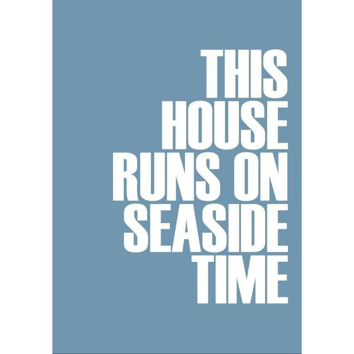 Seaside Time Typographic Travel and Seaside Print by SeaKisses