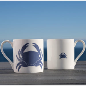 Blue Crab Mug - Fine Bone China Coastal Design-SeaKisses