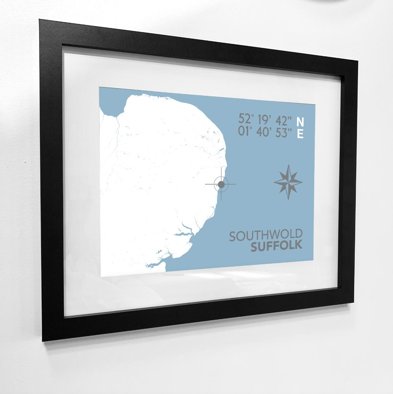 Beaumaris Nautical Map Typographic Seaside Print - Coastal Wall Art /Poster-SeaKisses