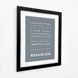 Braunton Seaside Travel Print- Coastal Wall Art /Poster-SeaKisses