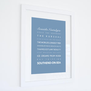 Southend-on-Sea Typographic Travel Print- Coastal Wall Art /Poster-SeaKisses