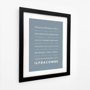 Ilfracombe Typographic Travel Print - Coastal Wall Art /Poster-SeaKisses