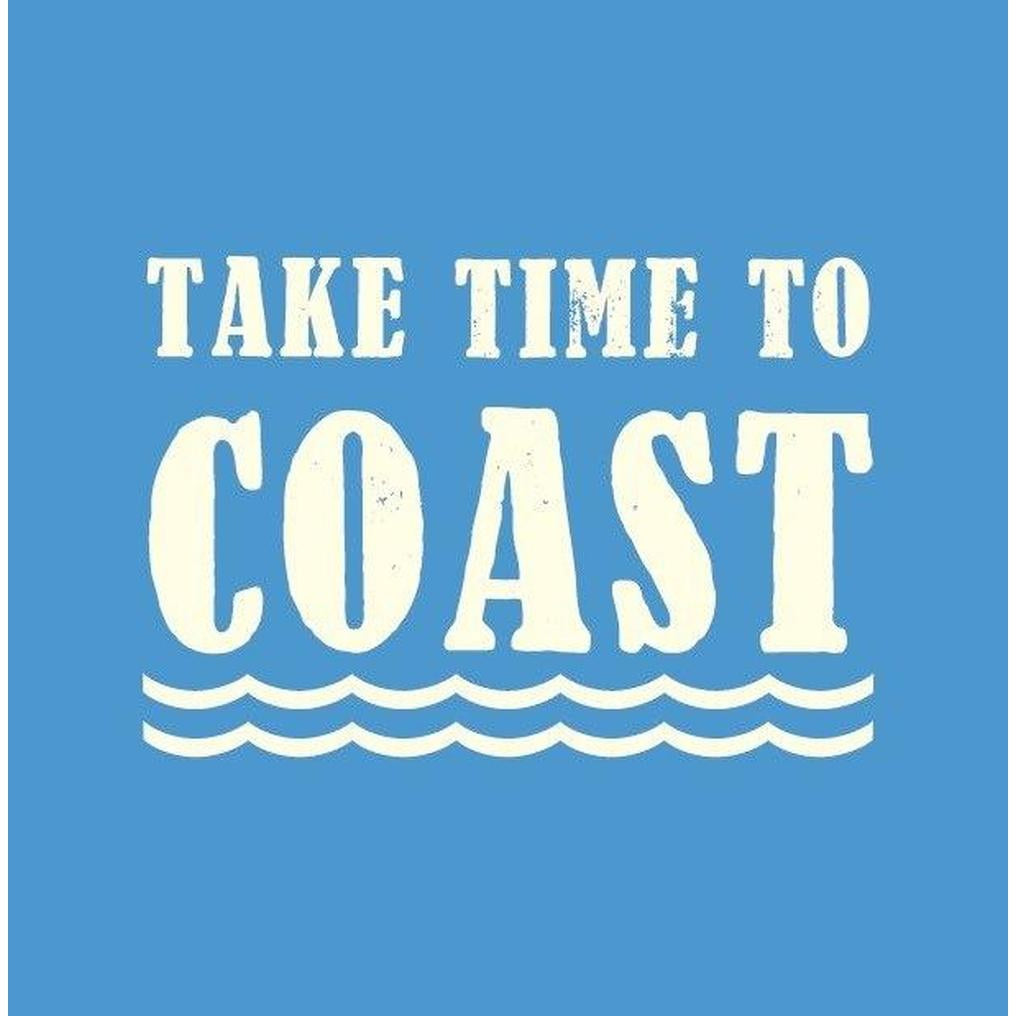 Take Time to Coast Coastal Greeting Card