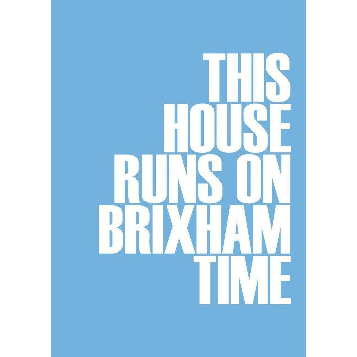 Brixham Typographic Travel Print/Poster Seaside Coastal Wall Art by SeaKisses