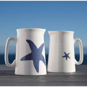 Blue Starfish 1/2 Pint Jug - Coastal Design-SeaKisses