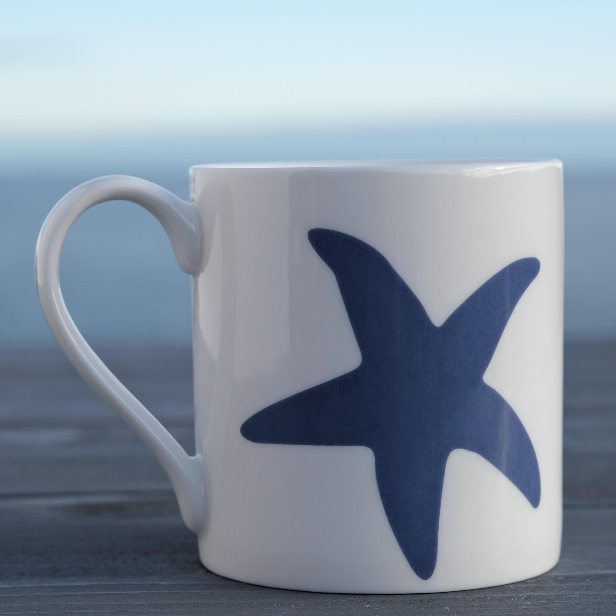 Blue Starfish Mug - Fine Bone China Coastal Design-SeaKisses