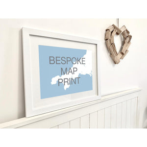 Bespoke Map Print for your Special Place-SeaKisses