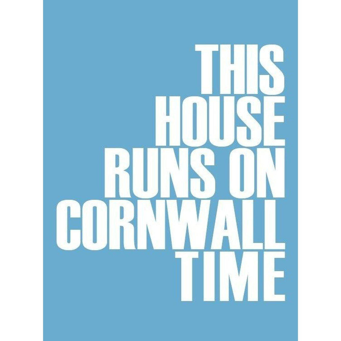 Cornwall Time Typographic Print - Coastal Wall Art-SeaKisses