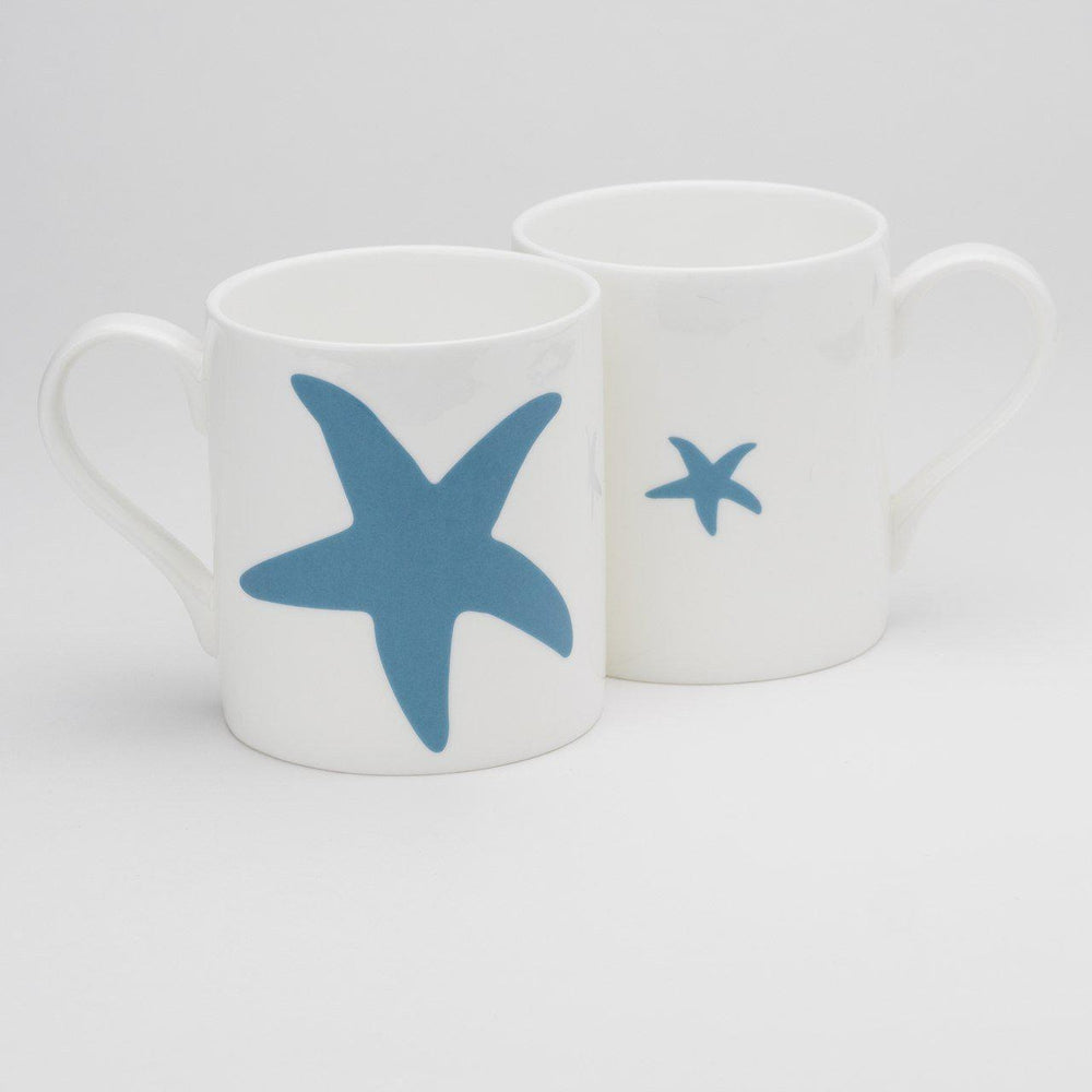 Starfish Mug Fine Bone China Coastal Design by SeaKisses
