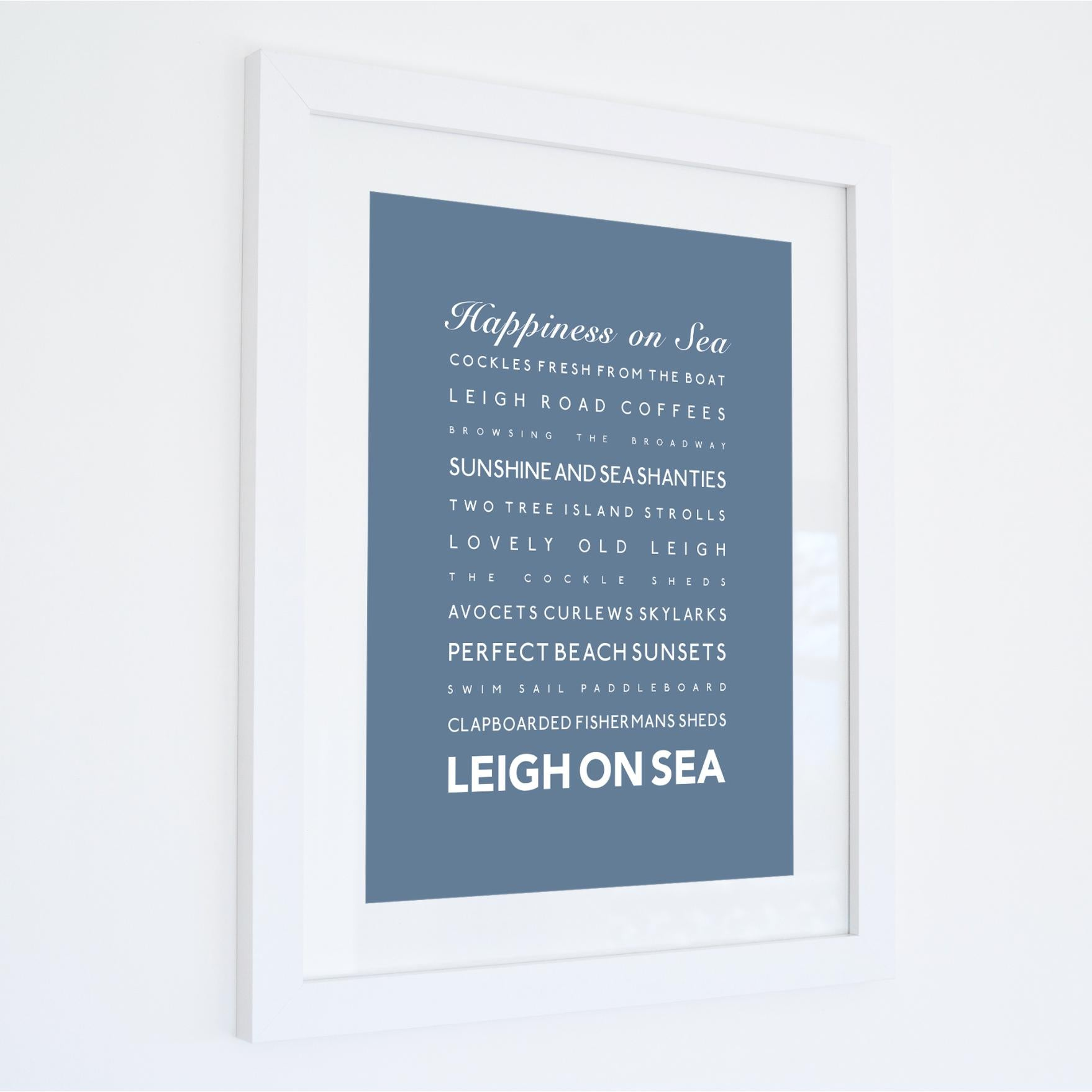 Leigh-on-Sea Typographic Travel Print- Coastal Wall Art /Poster-SeaKisses