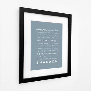 Shaldon Typographic Travel Print- Coastal Wall Art /Poster-SeaKisses