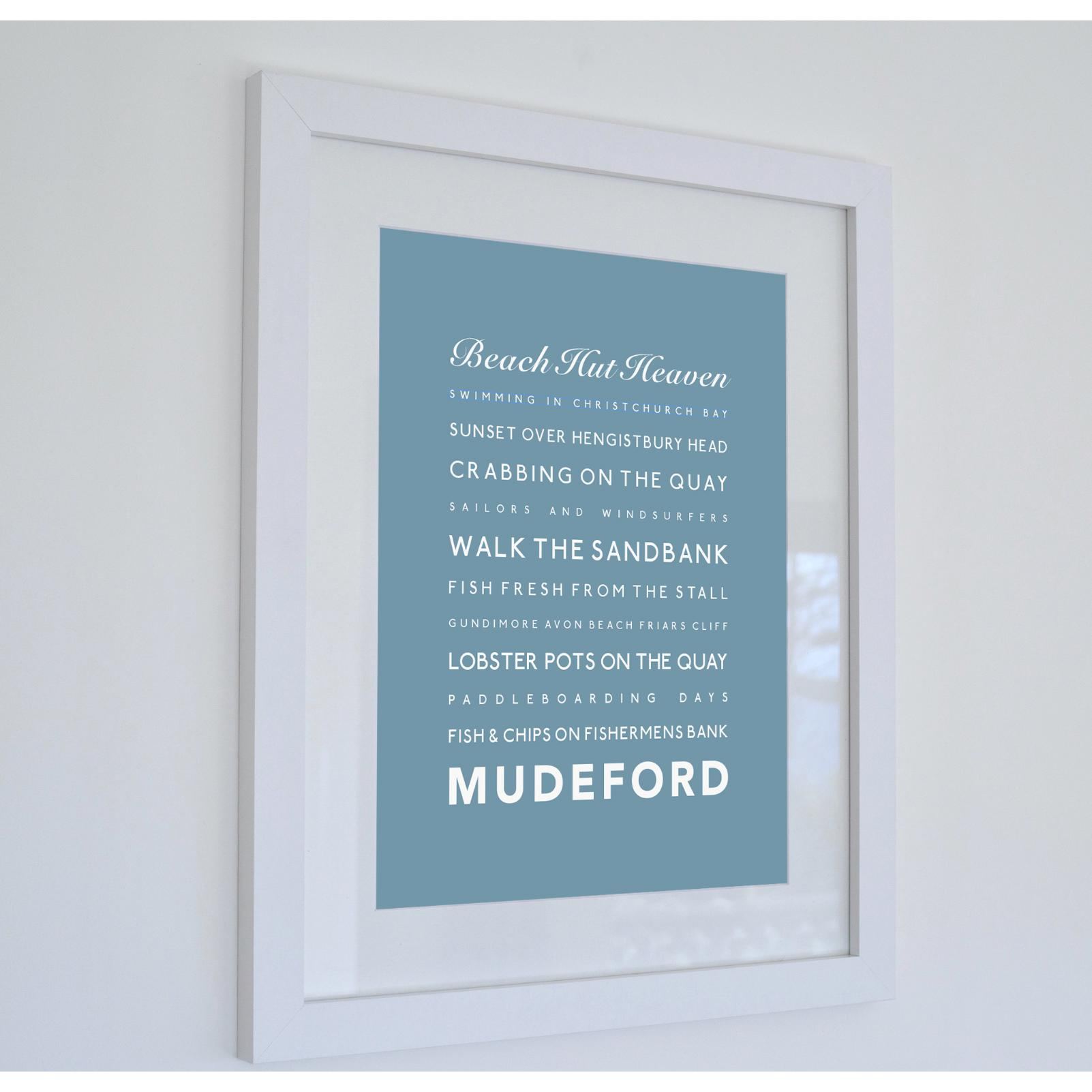 Mudeford Typographic Travel Print- Coastal Wall Art /Poster-SeaKisses