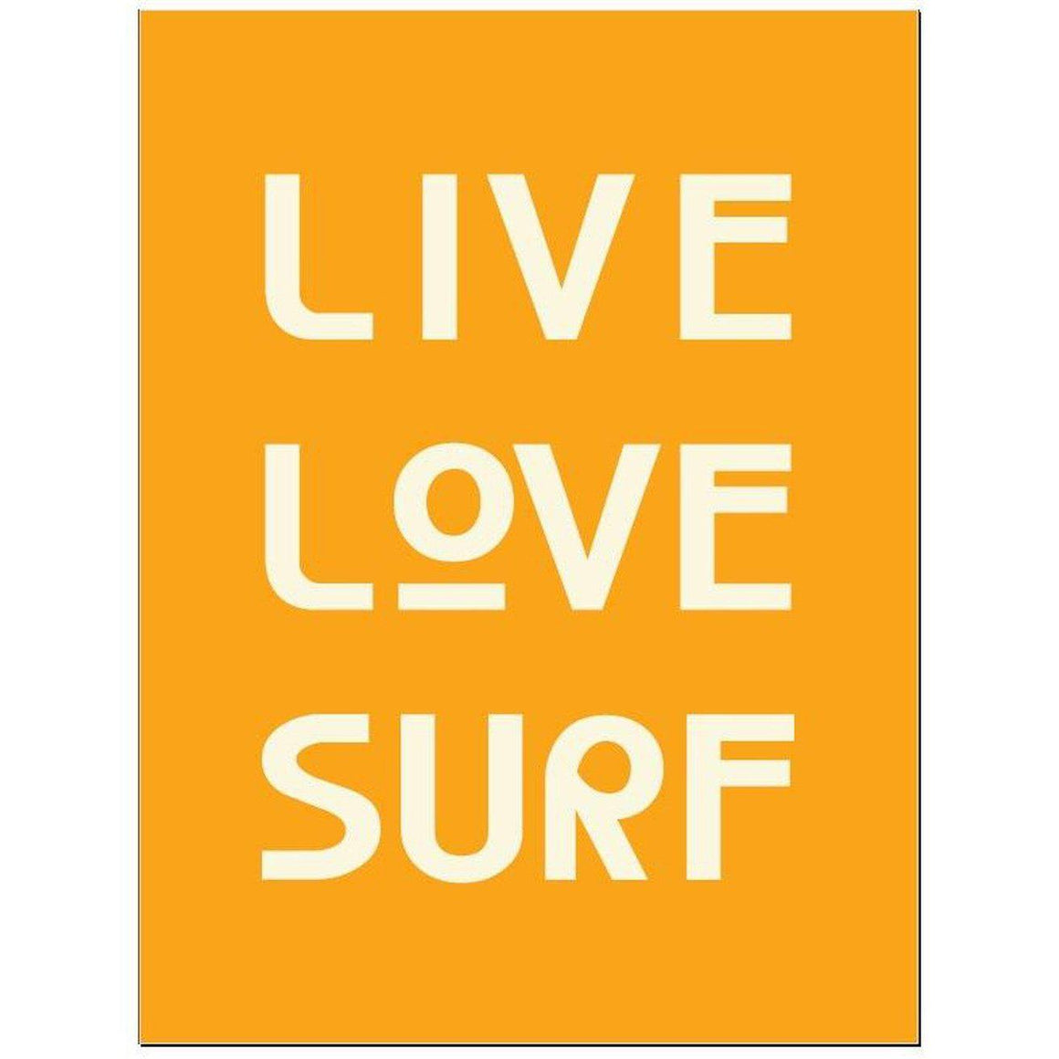 Live Love Surf Typographic Surf Print Coastal Wall Art by SeaKisses