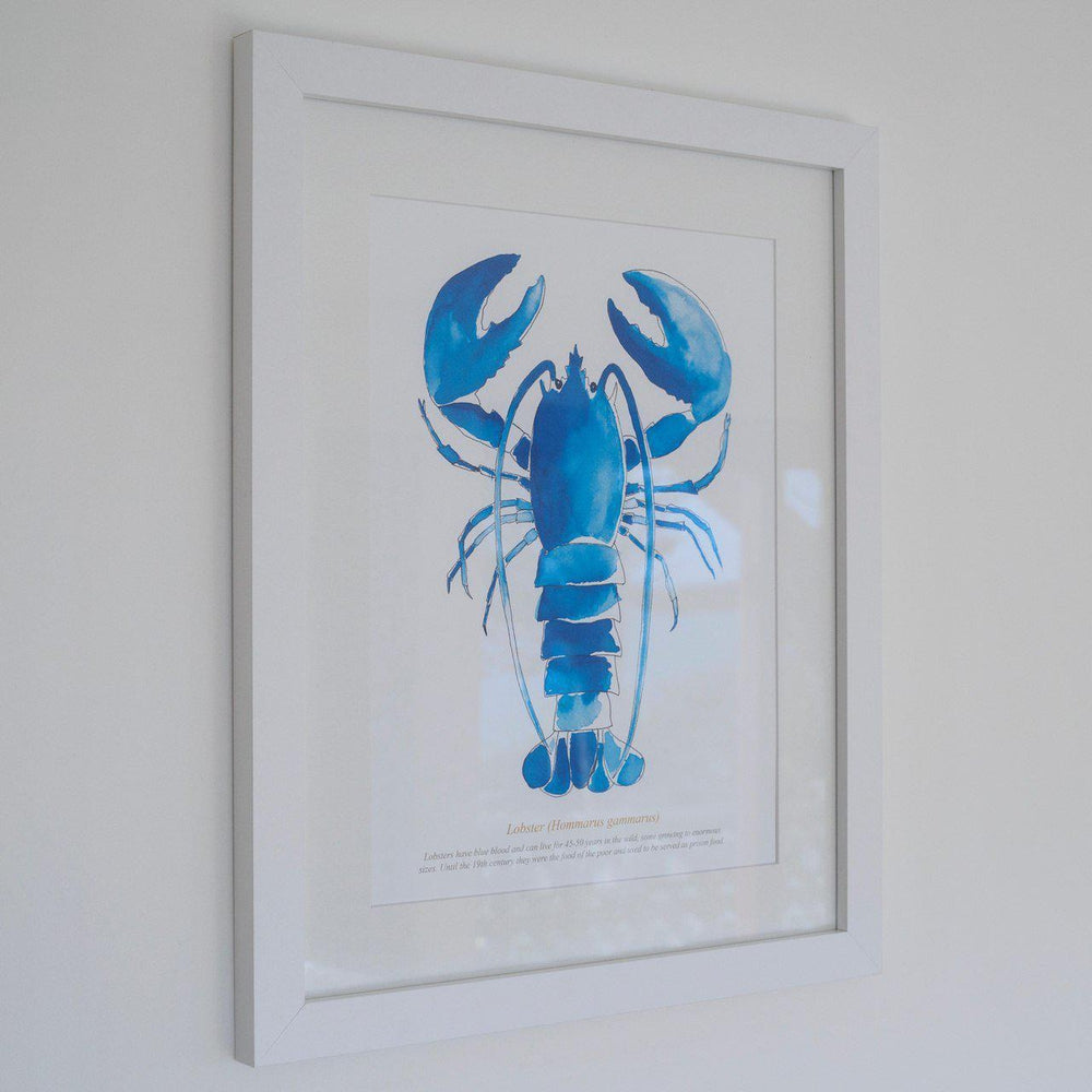 Lobster Watercolour Print SeaKisses Wall Art-SeaKisses
