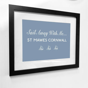 St Mawes, Sail Away...Print - Coastal Wall Art /Poster-SeaKisses