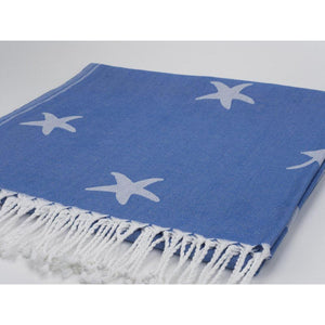 Starfish Pattern Beach Sheet (Hammam Towel)-SeaKisses
