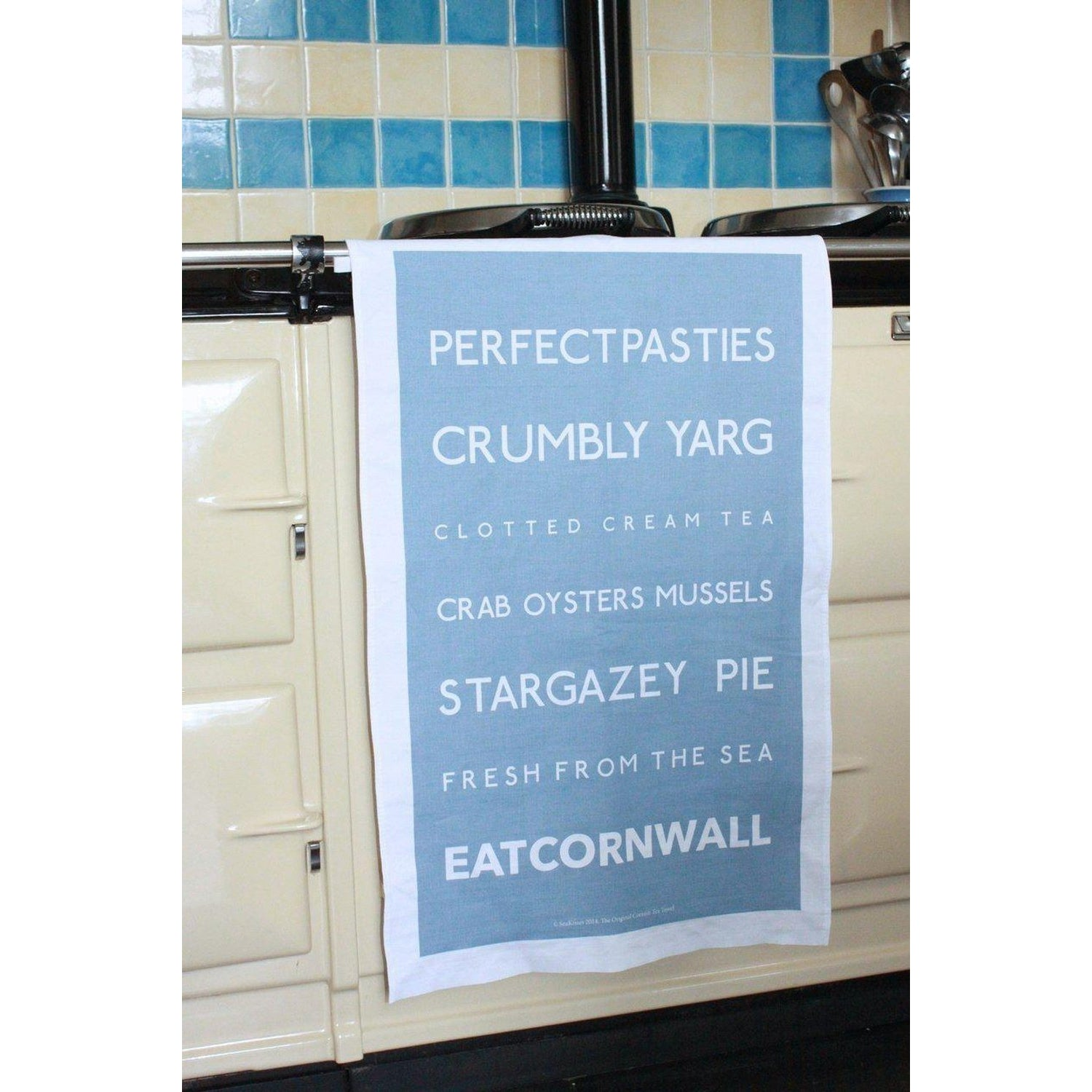 EAT Cornwall - Tea Towel-SeaKisses