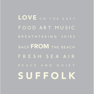 Suffolk - Greeting Card