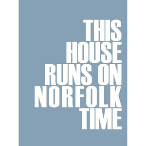Norfolk Time Typographic Travel and Seaside Print by SeaKisses