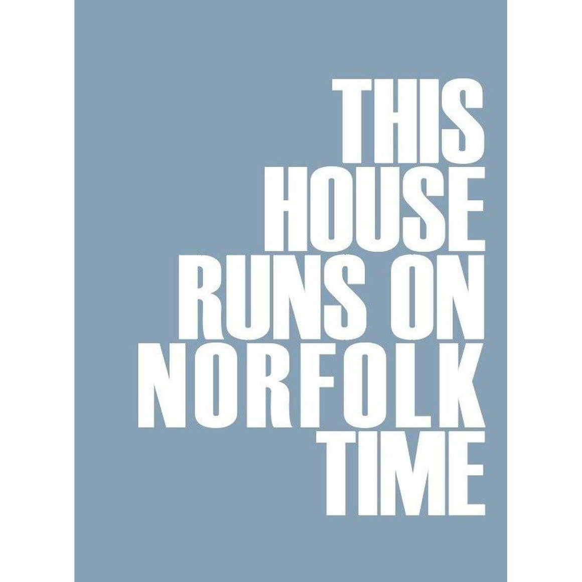 Norfolk Time Typographic Print