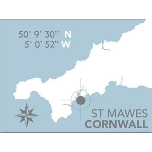 St Mawes Nautical Map - Coastal Wall Art /Poster-SeaKisses