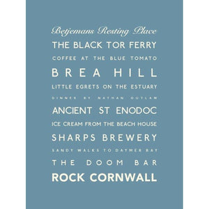 Rock Typographic Travel and Seaside Print by SeaKisses