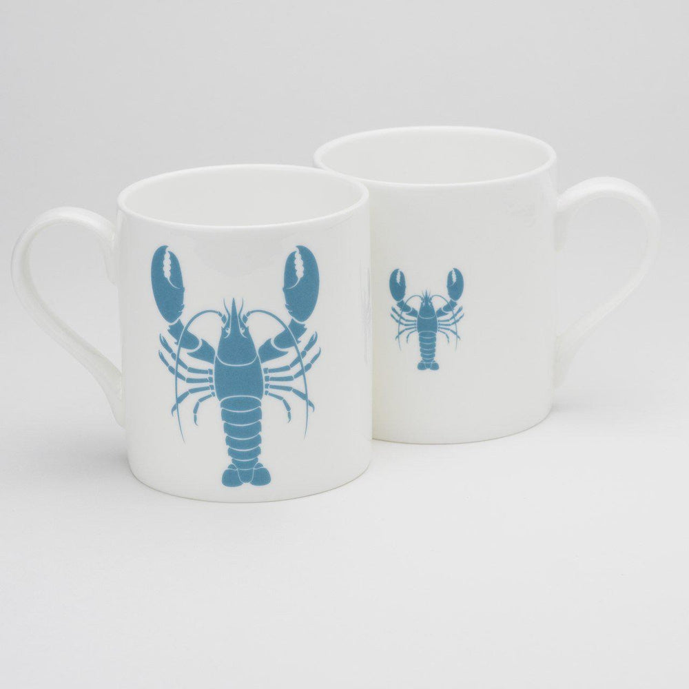 Lobster Mug Fine Bone China Coastal Design by SeaKisses