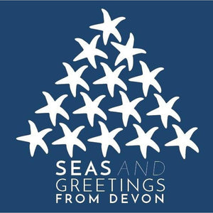 The Devon Christmas Card - Blue - Pack 5