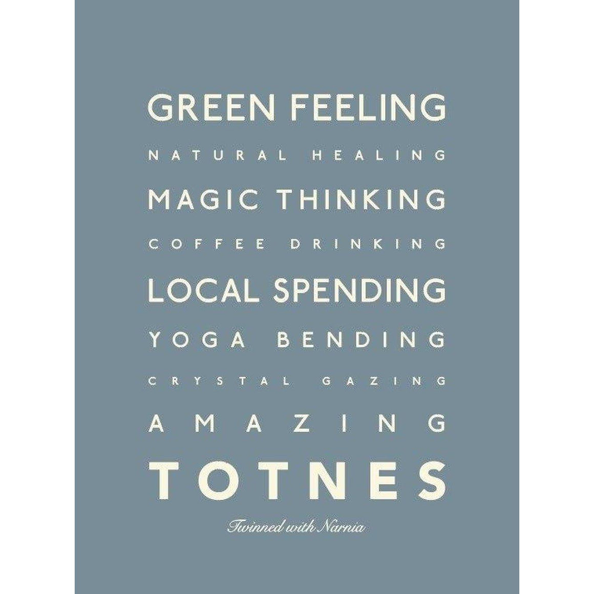 Totnes Typographic Travel and Seaside Print by SeaKisses