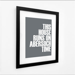 Abersoch Time Typographic Seaside Print - Coastal Wall Art /Poster-SeaKisses