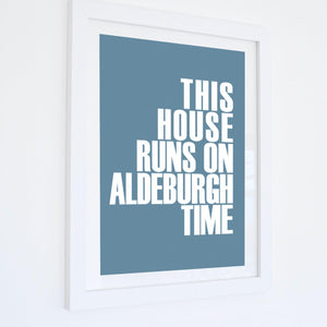 Aldeburgh Time Typographic Travel Print- Coastal Wall Art /Poster-SeaKisses