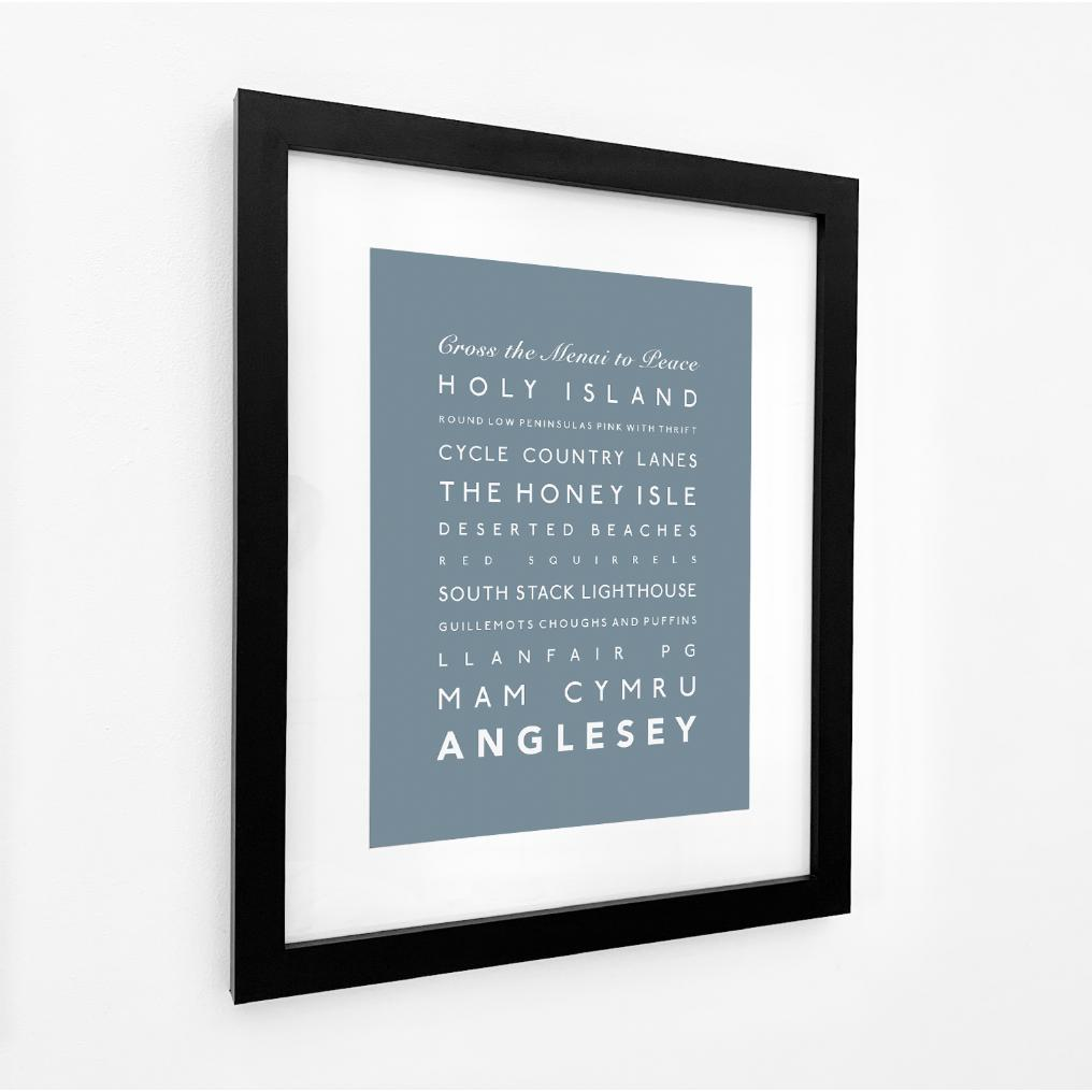 Anglesey Typographic Travel Print/Poster Coastal Art by SeaKisses