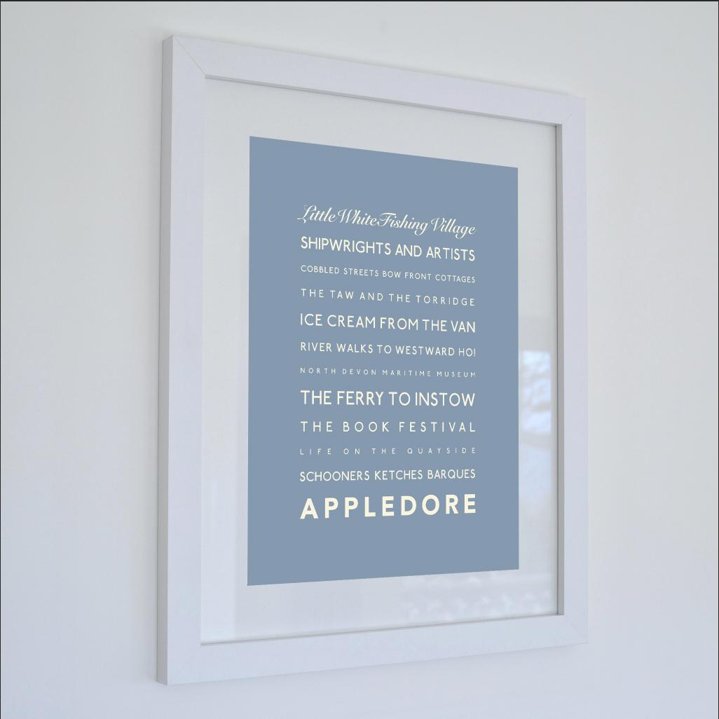 Appledore Typographic Travel Print- Coastal Wall Art /Poster-SeaKisses