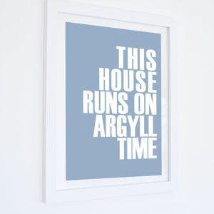 Argyll Time Typographic Print- Coastal Wall Art /Poster-SeaKisses