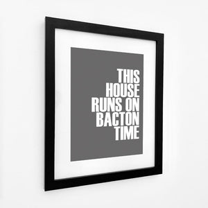 Bacton Time Typographic Travel Print - Coastal Wall Art /Poster-SeaKisses