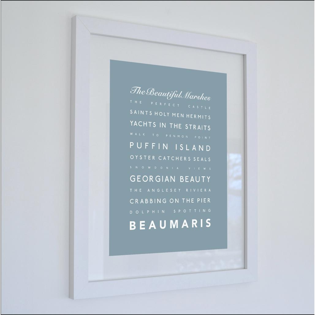 Beaumaris Typographic Travel Print- Coastal Wall Art /Poster-SeaKisses