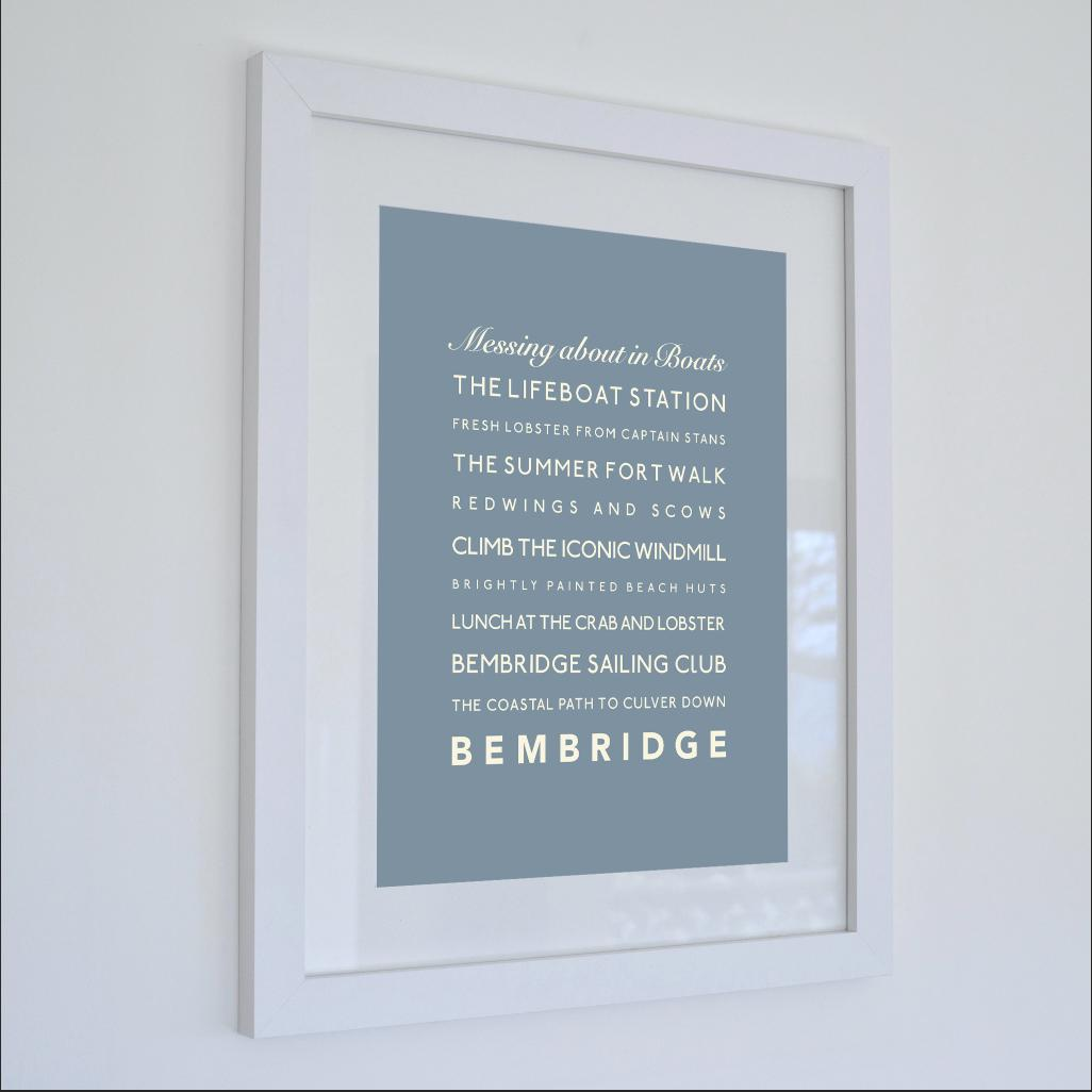 Bembridge Typographic Travel Print- Coastal Wall Art /Poster-SeaKisses
