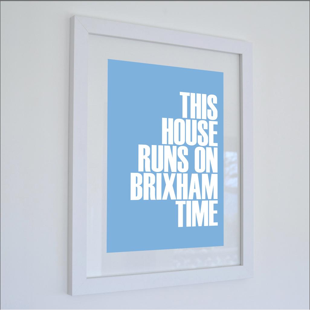 Brixham Time Typographic Print - Coastal Wall Art /Poster-SeaKisses