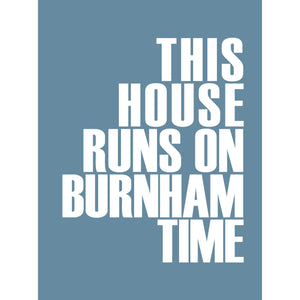 Burnham Time Typographic Travel Print- Coastal Wall Art /Poster-SeaKisses