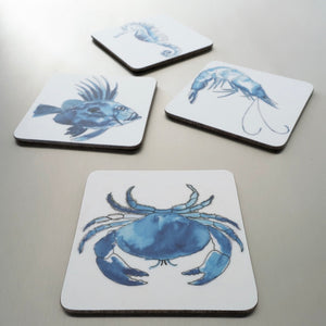 Pack of 6 Coastal Coasters-SeaKisses