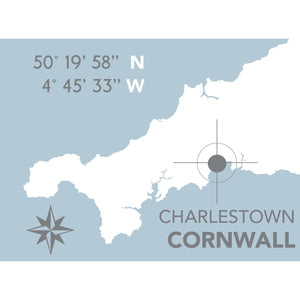 Charlestown Map Travel Print- Coastal Wall Art /Poster-SeaKisses