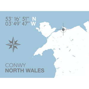 Conwy Nautical Map Travel Print - Coastal Wall Art /Poster-SeaKisses