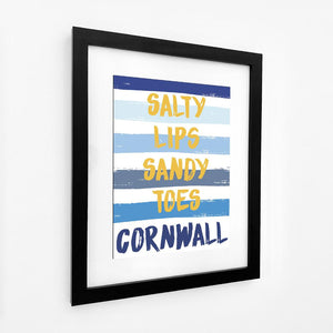 Cornwall Stripes - Coastal Wall Art /Poster-SeaKisses