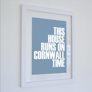 Cornwall Time Typographic Print - Coastal Wall Art /Poster-SeaKisses