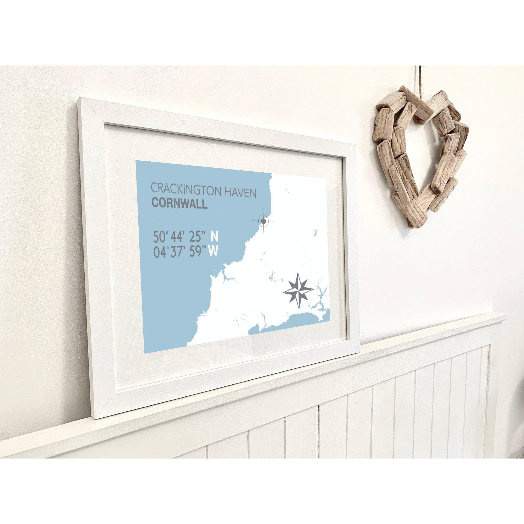 Crackington Haven Map Travel Print- Coastal Wall Art /Poster-SeaKisses