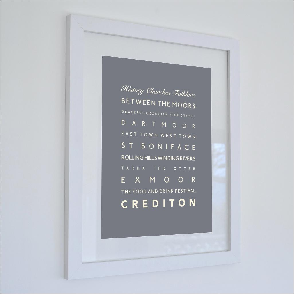 Crediton Typographic Travel Print - Coastal Wall Art /Poster-SeaKisses